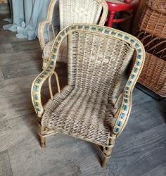 fauteuil rotin vieilli