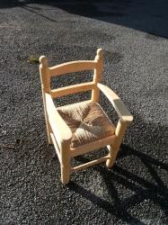 petit fauteuil bois blanc